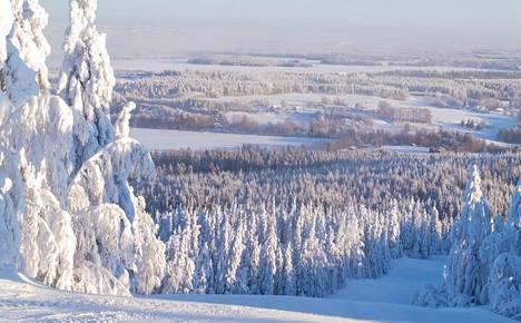 Luminen maisema Vuokatissa.