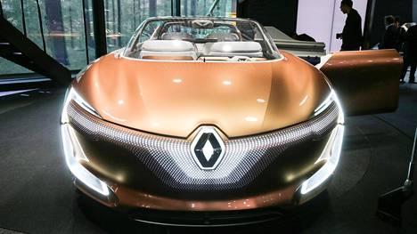 Renalt Symbioz hehkui tänään lehdistöpäivänä Frankfurtin autonäyttelyssä. Kyseessä on tietenkin täyssähköautokonsepti.