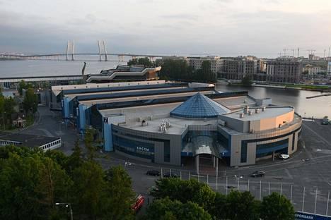 Lenekspon messualueen paviljongista on tehty Pietarissa väliaikainen sairaala koronapotilaille.