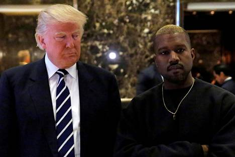 Donald Trump ja Kanye West Trump Towerissa New Yorkissa 13. joulukuuta 2016.