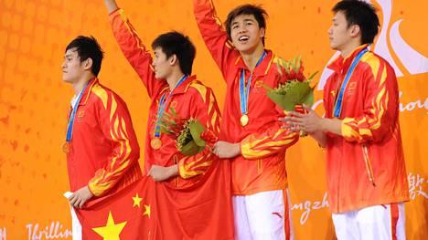 Kiina on ollut 2000-luvulla maailman johtavia uintimaita. Kuva Aasian kisoista vuodelta 2010.