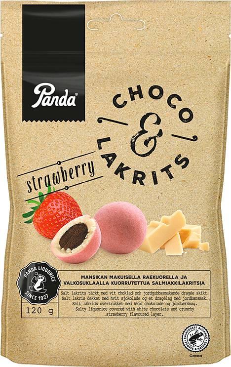 Panda Choco & Lakrits strawberry 120g