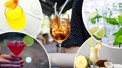Jotkut drinkit maistuvat erityisen hyviltä lämpimällä säällä.