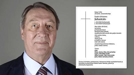 Entinen pitkäaikainen kansanedustaja Kauko Juhantalo kuoli syöpään huhtikuun lopulla.
