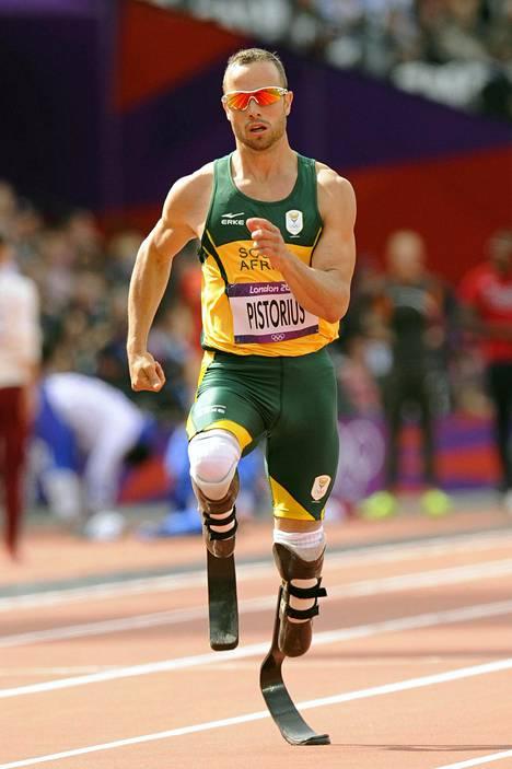 Oscar Pistorius kilpaili 400 metrillä Lontoon olympialaisissa.