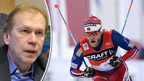 Timo Seppälä ihmettelee Martin Johnsrud Sundbyn käryä.