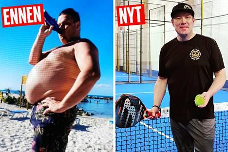 Padelin pelaaminen on yksi syy siihen, miksi Mikko ryhtyi elämäntaparemonttiin. Hän haluaa jaksaa paremmin myös frisbeegolf-radoilla.