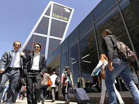 Espanjan suurin pankki Bankia sai Euroopan unionilta velkatukea.