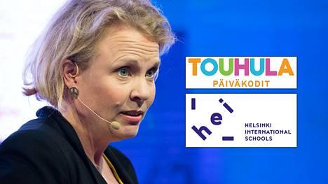 Sdp:n kansanedustaja Pilvi Torstin osaomistama Helsinki International Schools on viime aikoina runsaasti julkisuutta saaneen Touhula-päiväkotiketjun yhteistyökumppani.