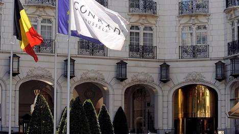 Epäillyt rikokset tapahtuivat brysseliläisessä Conrad-luksushotellissa.