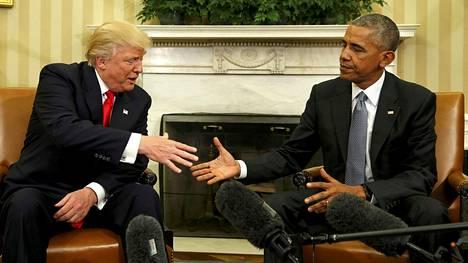 Donald Trump ja Barack Obama tapasivat 10. marraskuuta Valkoisessa talossa.
