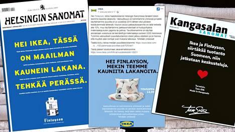 Pieni yhtiö Kangasalalta lähti haastamaan Finlaysonia ja Ikeaa etusivun mainoksella. Tam-Silk uskoo, että Suomessakin voi tehdä tekstiilejä kannattavasti.
