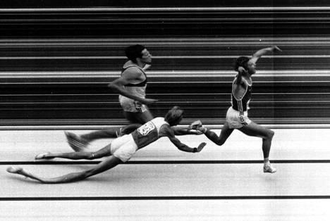 Kuuluisa maalikameran kuva 5000 metrin MM-juoksusta vuodelta 1983.
