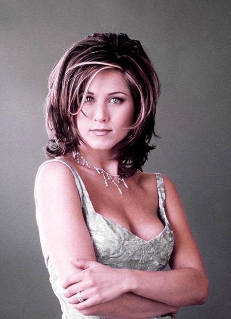 Jennifer Aniston Frendien Racheelina lokakuussa 2001.