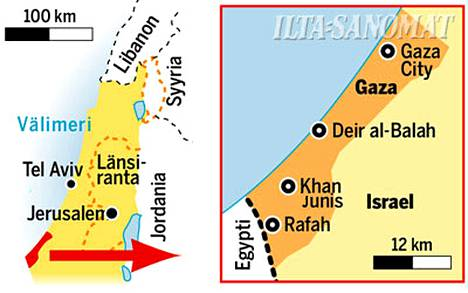 Israelin panssarijoukkojen on kerrottu tunkeutuvan kohti Gazan eteläosassa sijaitsevaa Khan Junisin kaupunkia.