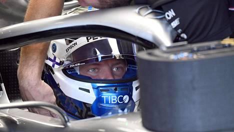 Valtteri Botas kuvattuna Italian GP-viikonloppuna Monzassa.
