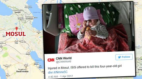 4-vuotiaan tytön tapauksesta on uutisoitu ympäri maailmaa.