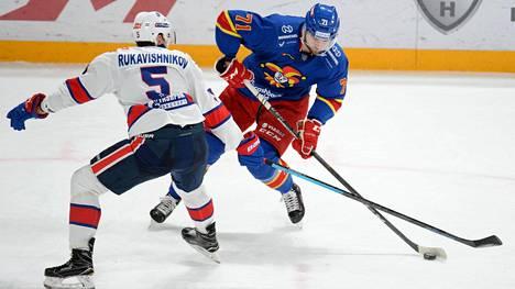 Niklas Jensen teki Jokerien ainoan maalin SKA:n verkkoon.