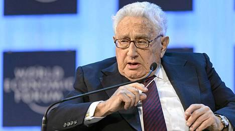 Henry Kissinger Davosissa tammikuussa.