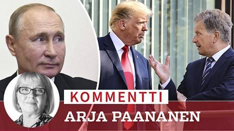 Presidentti Sauli Niinistö tapasi heinäkuussa 2018 Donald Trumpin Helsingissä ennen kuin tämä neuvotteli ensimmäistä kertaa virallisesti Vladimir Putinin kanssa.