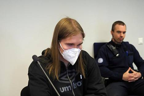 Joel Marin kuvattuna Pohjois-Savon käräjäoikeudessa tiistaina.