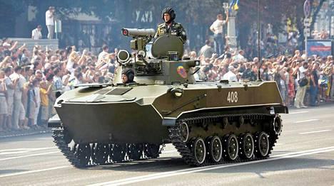 Tämä BMD-2-tyypin taisteluajoneuvo on käytössä Ukrainan asevoimilla. Vaunu esiintyi paraatissa Kiovassa vuonna 2008.