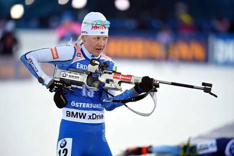 Ammunta on ollut Kaisa Mäkäräisen akilleenkantapää Östersundin MM-kisoissa.