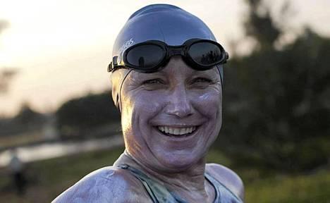 Brittiläis-australialainen Penny Palfrey jätti kesken yrityksensä uida Kuubasta Yhdysvaltoihin.