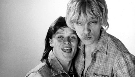 Aki (Antti Raivio) ja Turo (Ville Virtanen) olivat Hymyhuulet-sarjan kauhukaksikko.