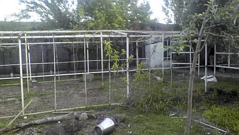 Tältä näytti bin Ladenin puutarhassa iskun jälkeen.
