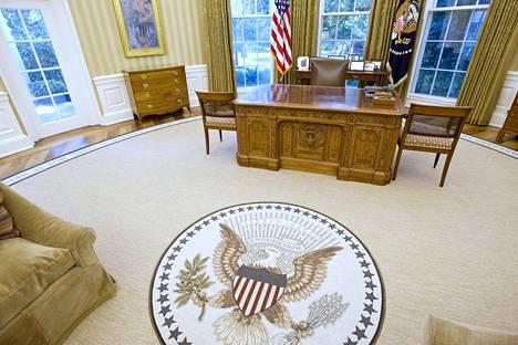 Kuuluisa Oval office on Trumpin tuleva työhuone.