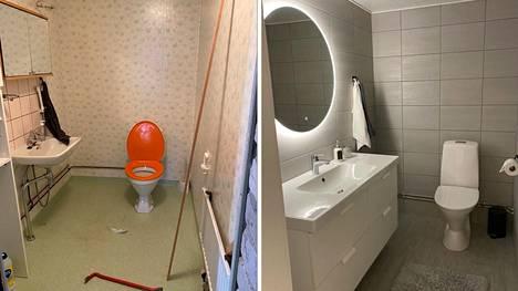 Elina Isohannun vessa oli niin ruma, että nainen ei halunnut edes käydä siellä. Remonttiin meni hieman omaa aikaa, mutta 3 000 euron lopputulos miellyttää silmää.