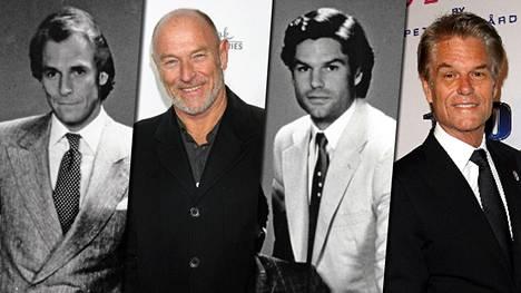 L.A. Law -sarjan asianajajia näyttelivät myös Corbin Bernsen (vas.) ja Harry Hamlin (oik.).