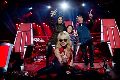 Tarja Turunen, Michael Monroe, Redrama ja Olli Lindholm ovat The Voice of Finlandin tähtivalmentajat.