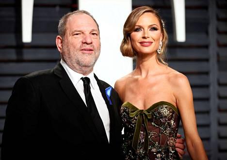 Harvey Weinstein ja Georgina Chapman vuonna 2017.