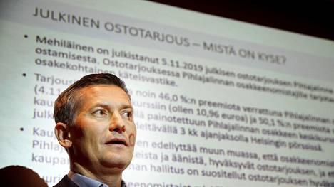 Mehiläinen teki ostotarjouksen Pihlajalinnasta viime vuoden loppupuolella. Kuvassa Pihlajalinnan hallituksen puheenjohtaja Mikko Wiren.