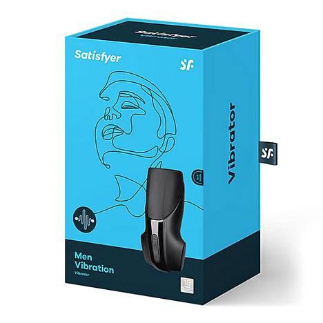 Satisfyer Men Vibration -masturbaattori tulee tyylikkäässä pakkauksessa ja on oivallinen kesälahja seksileluista pitävälle miehelle.