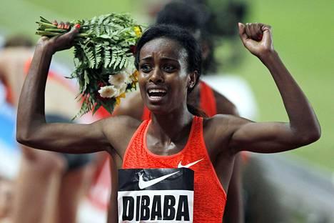 Genzebe Dibaba on hirmukunnossa.