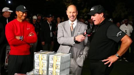 Mickelson kaatoi Woodsin golfin näytösottelussa ja kääri yhdeksän miljoonan dollarin palkintorahat