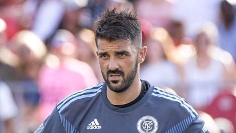 David Villa vuonna 2018 New York City FC:n paidassa.