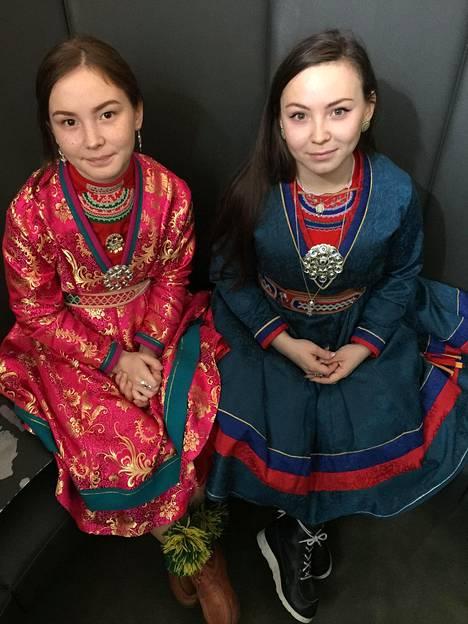 Mia Sparrok ja Lene Sparrok ovat Lux-palkinnon voittaneen Saamelaisveri -elokuvan päänäyttelijät. Kuvattu Strasbourgissa, Ranskassa, Euroopan parlamentissa.