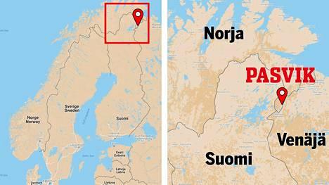 Pasvik sijaitsee Norjan Finnmarkissa lähellä Suomen ja Venäjän rajaa.