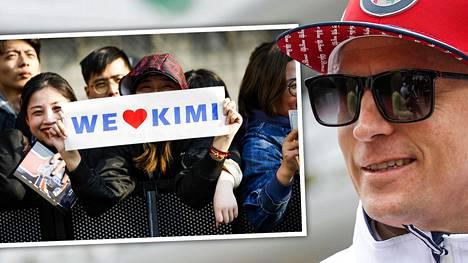 Kiinalaiset fanit olivat kiitollisia Kimi Räikkösen viestistä.