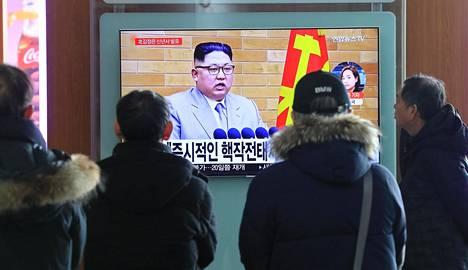 Soulilaiset seurasivat pohjoisen naapurimaan johtajan uudenvuodenpuhetta.