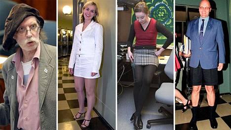 Eduskunnan puhemies on ennenkin joutunut puuttumaan kansanedustajien pukeutumiseen. Muistatko nämä pukukohut?