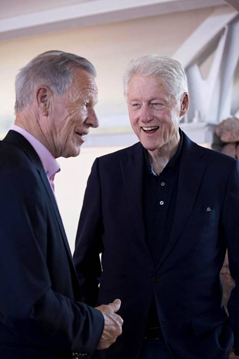Anders Wiklöf ja Bill Clinton.