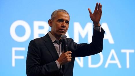 Barck Obama arkistokuvassa.
