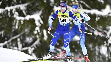 Kerttu Niskanen oli Davosin maailmancupin kisassa kuudes.