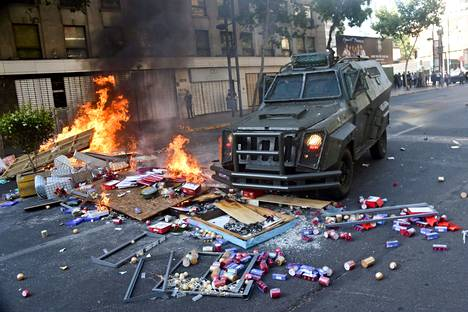 Chilen protestit alkoivat lokakuun loppupuolella.