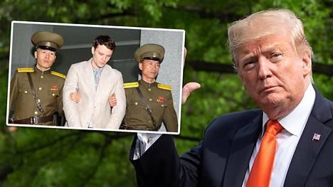 Presidentti Donald Trump on aiemmin kiistänyt, että yhdysvaltalaisvankien vapauttamisesta olisi maksettu rahaa.